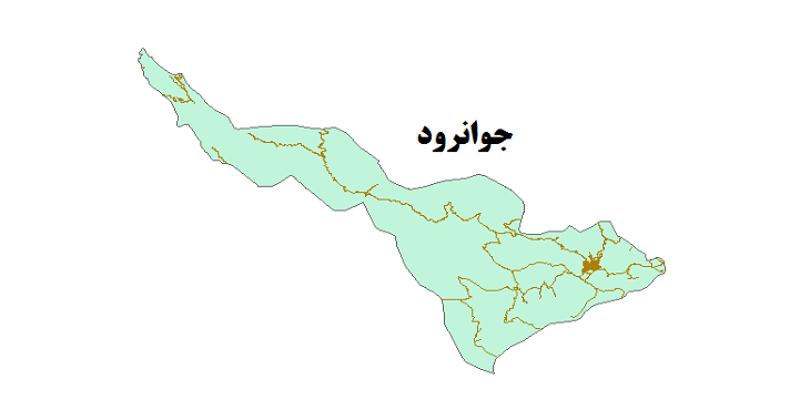 شیپ فایل شبکه راههای شهرستان جوانرود 1399
