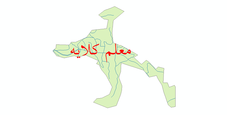 دانلود نقشه شیپ فایل شبکه معابر شهر معلم کلایه سال 1399