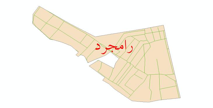 دانلود نقشه شیپ فایل شبکه معابر شهر رامجرد سال 1399