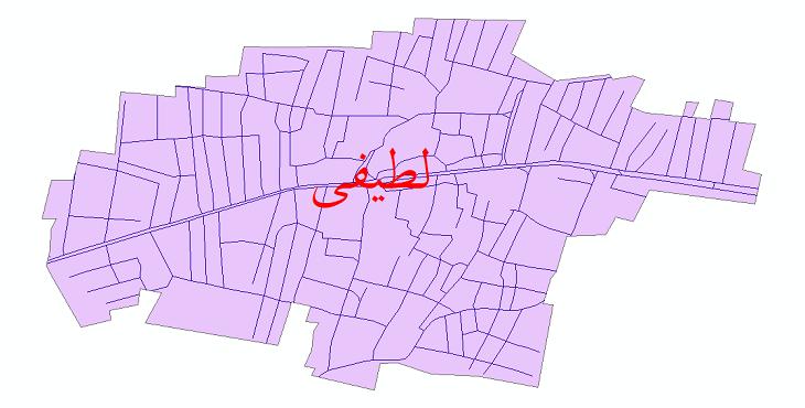 دانلود نقشه شیپ فایل شبکه معابر شهر لطیفی سال 1399