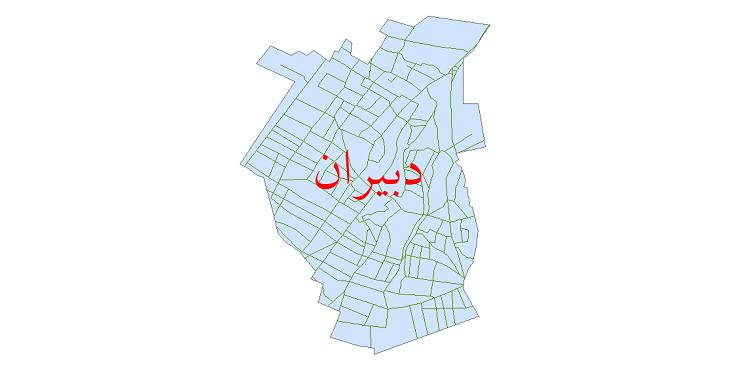 دانلود نقشه شیپ فایل شبکه معابر شهر دبیران سال 1399