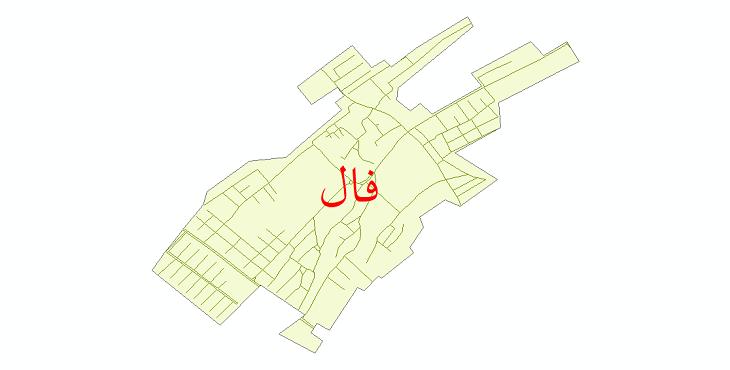 دانلود نقشه شیپ فایل شبکه معابر شهر فال سال 1399