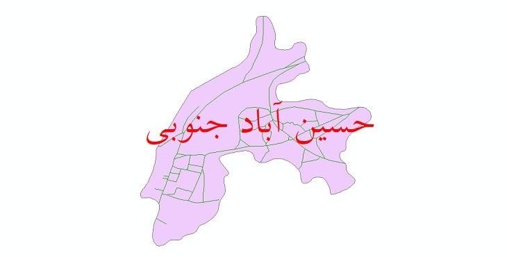 دانلود نقشه شیپ فایل شبکه معابر شهر حسین آباد جنوبی سال 1399