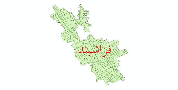 دانلود نقشه شیپ فایل شبکه معابر شهر فراشبند سال 1399