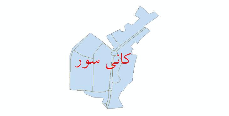 دانلود نقشه شیپ فایل شبکه معابر شهر کانی سور سال 1399