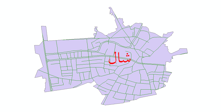 دانلود نقشه شیپ فایل شبکه معابر شهر شال سال 1399