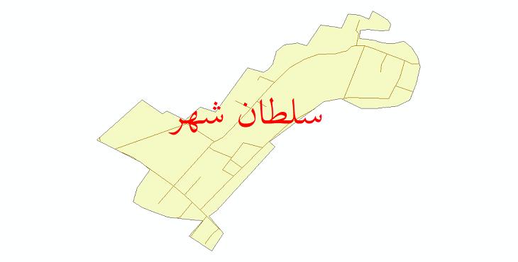 دانلود نقشه شیپ فایل شبکه معابر شهر سلطان شهر سال 1399