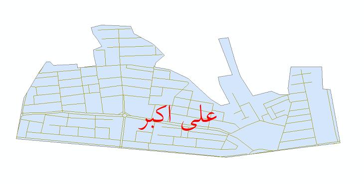 دانلود نقشه شیپ فایل شبکه معابر شهر علی اکبر سال 1399
