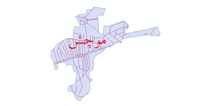 دانلود نقشه شیپ فایل شبکه معابر شهر موچش سال 1399