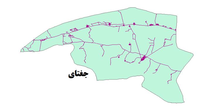 شیپ فایل شبکه راههای شهرستان جغتای 1399
