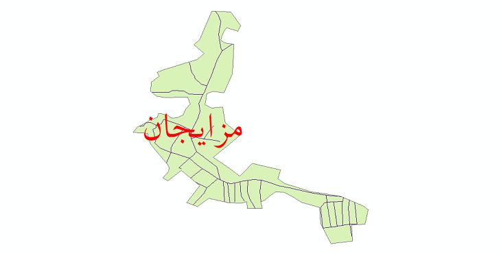 دانلود نقشه شیپ فایل شبکه معابر شهر مزایجان سال 1399