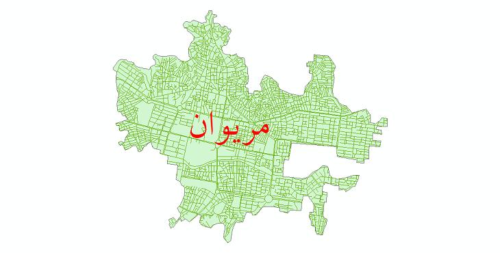 دانلود نقشه شیپ فایل شبکه معابر شهر مریوان سال 1399