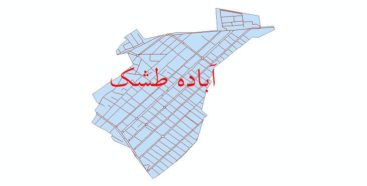 دانلود نقشه شیپ فایل شبکه معابر شهر آباده طشک سال 1399