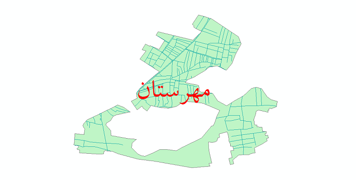 دانلود نقشه شیپ فایل شبکه معابر شهر مهرستان سال 1399