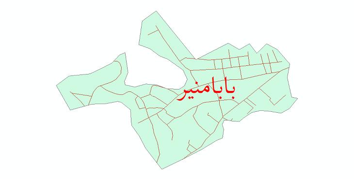 دانلود نقشه شیپ فایل شبکه معابر شهر بابامنیر سال 1399