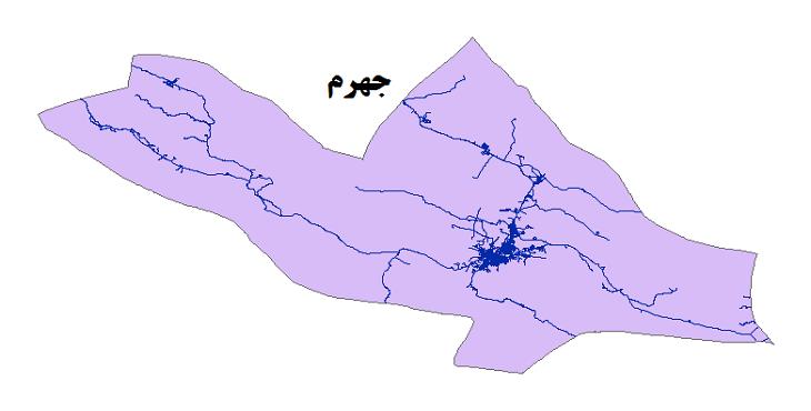 شیپ فایل شبکه راههای شهرستان جهرم 1399