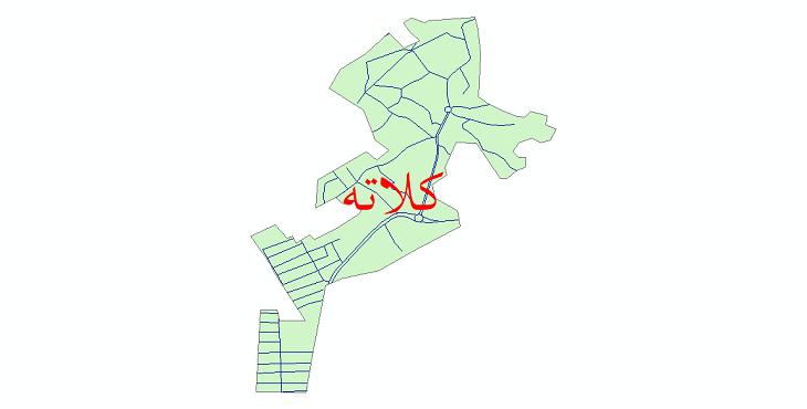 دانلود نقشه شیپ فایل شبکه معابر شهر کلاته سال 1399
