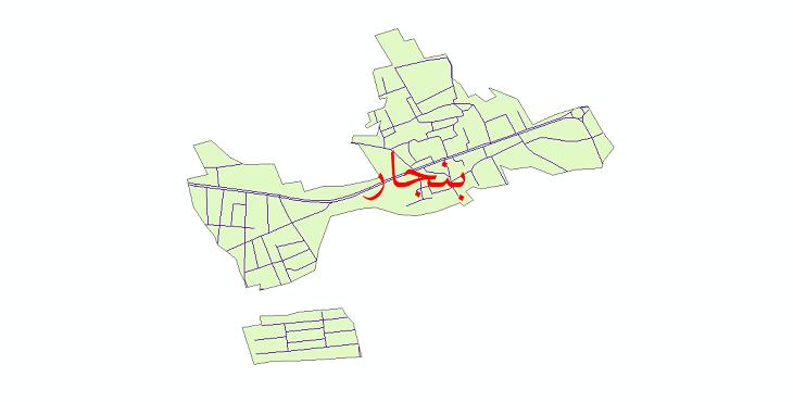 دانلود نقشه شیپ فایل شبکه معابر شهر بنجار سال 1399