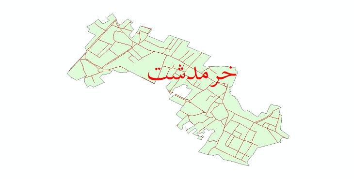 دانلود نقشه شیپ فایل شبکه معابر شهر خرمدشت سال 1399
