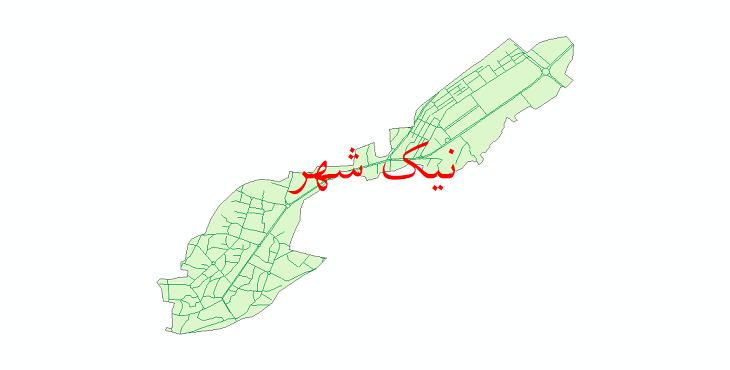 دانلود نقشه شیپ فایل شبکه معابر شهر نیک شهر سال 1399