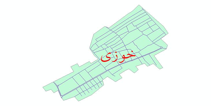 دانلود نقشه شیپ فایل شبکه معابر شهر خوزی سال 1399