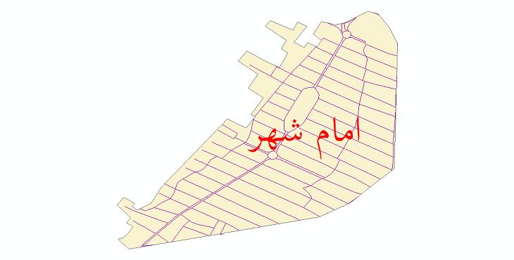 دانلود نقشه شیپ فایل شبکه معابر شهر امام شهر سال 1399