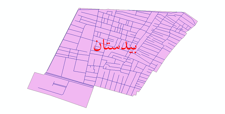 دانلود نقشه شیپ فایل شبکه معابر شهر بیدستان سال 1399