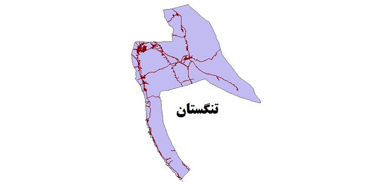 شیپ فایل شبکه راههای شهرستان تنگستان 1399