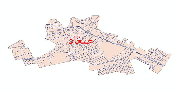 دانلود نقشه شیپ فایل شبکه معابر شهر صغاد سال 1399