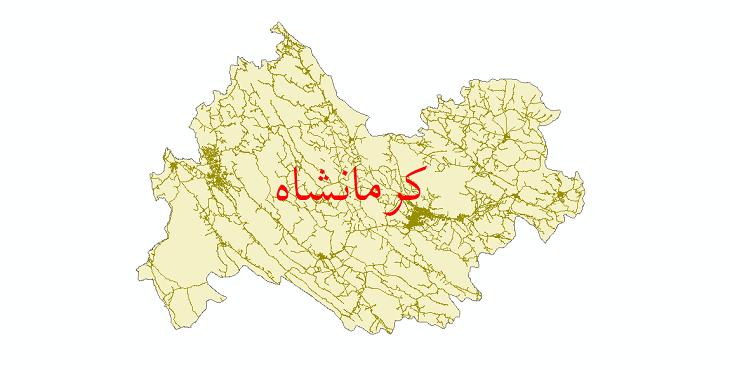 دانلود نقشه شیپ فایل شبکه راه های استان کرمانشاه سال 1399