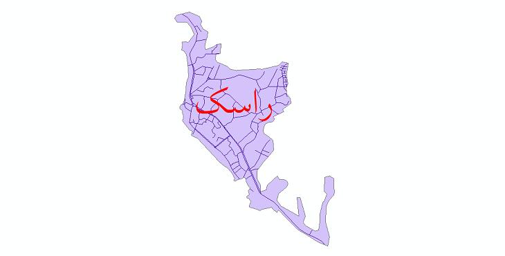 دانلود نقشه شیپ فایل شبکه معابر شهر راسک سال 1399