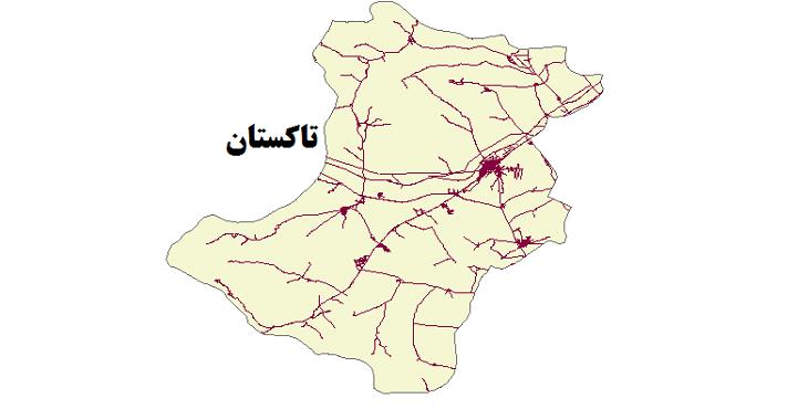 شیپ فایل شبکه راههای شهرستان تاکستان 1399