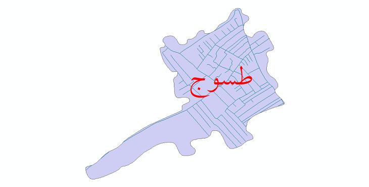 دانلود نقشه شیپ فایل شبکه معابر شهر طسوج سال 1399