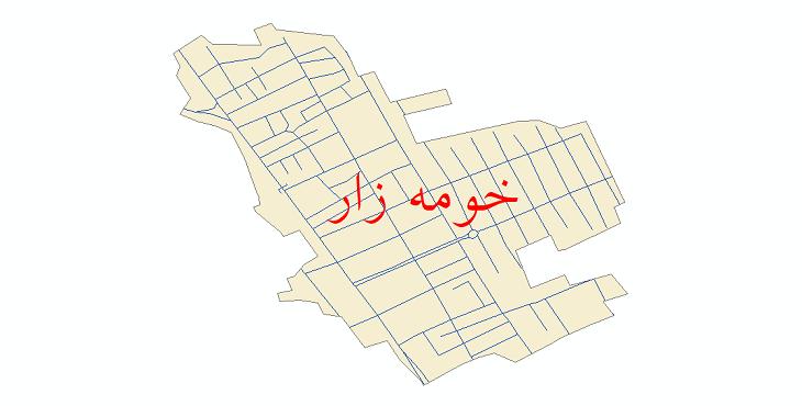 دانلود نقشه شیپ فایل شبکه معابر شهر خومه زار سال 1399