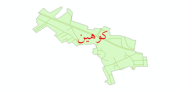 دانلود نقشه شیپ فایل شبکه معابر شهر کوهین سال 1399