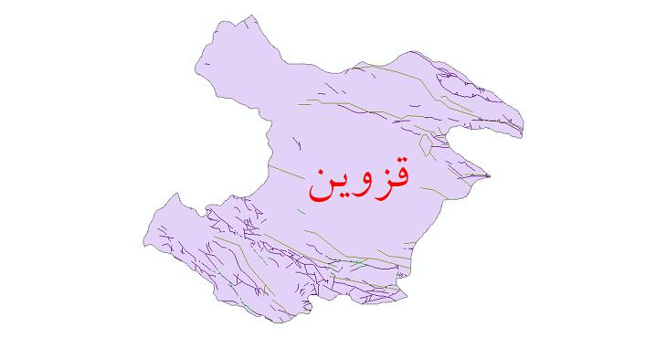 دانلود نقشه شیپ فایل گسل های استان قزوین