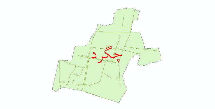 دانلود نقشه شیپ فایل شبکه معابر شهر چگرد سال 1399