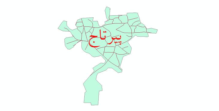 دانلود نقشه شیپ فایل شبکه معابر شهر پیرتاج سال 1399