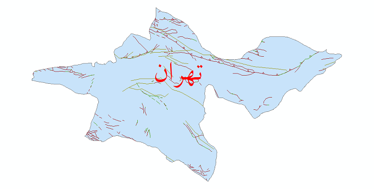 دانلود نقشه شیپ فایل گسل های استان تهران