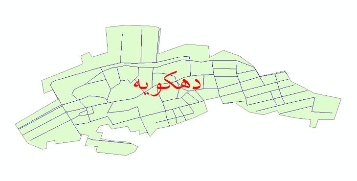 دانلود نقشه شیپ فایل شبکه معابر شهر دهکویه سال 1399