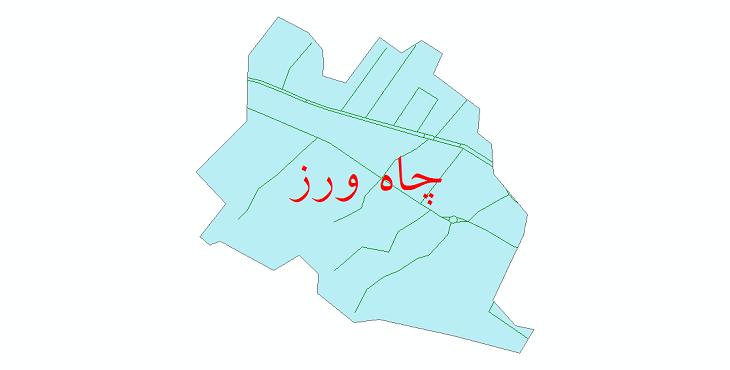 دانلود نقشه شیپ فایل شبکه معابر شهر چاه ورز سال 1399