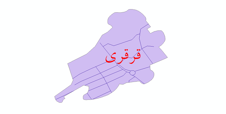 دانلود نقشه شیپ فایل شبکه معابر شهر قرقری سال 1399