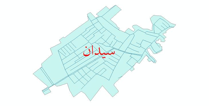 دانلود نقشه شیپ فایل شبکه معابر شهر سیدان سال 1399
