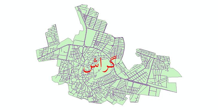دانلود نقشه شیپ فایل شبکه معابر شهر گراش سال 1399