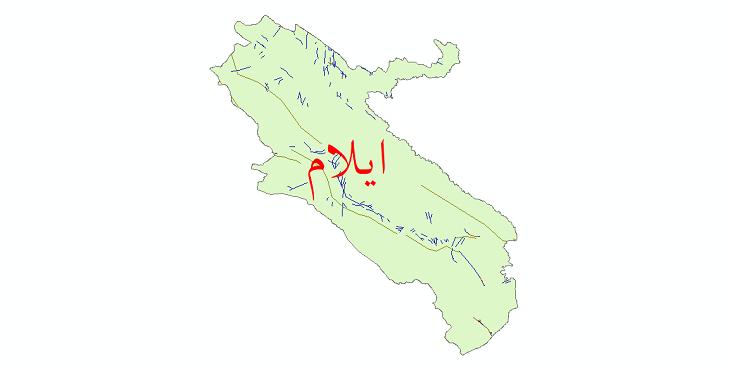 دانلود نقشه شیپ فایل گسل های استان ایلام