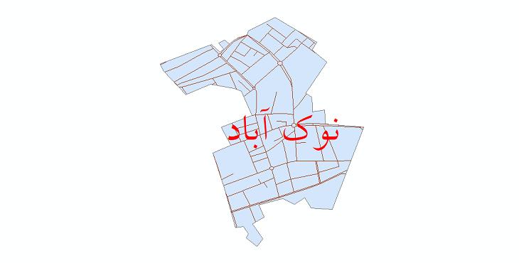 دانلود نقشه شیپ فایل شبکه معابر شهر نوک آباد سال 1399