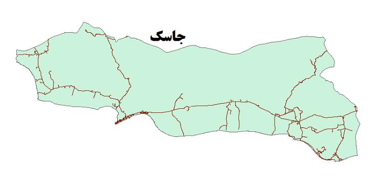 شیپ فایل شبکه راههای شهرستان جاسک 1399