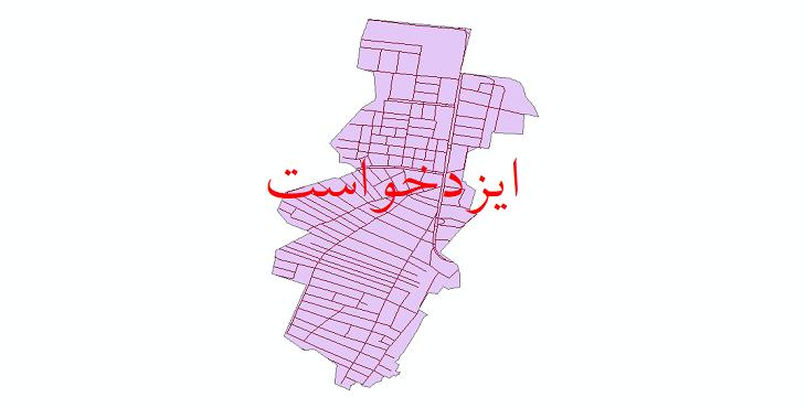 دانلود نقشه شیپ فایل شبکه معابر شهر ایزدخواست سال 1399
