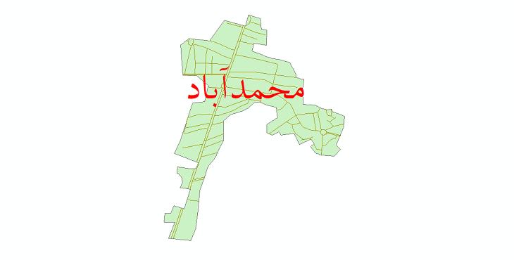 دانلود نقشه شیپ فایل شبکه معابر شهر محمدآباد سال 1399