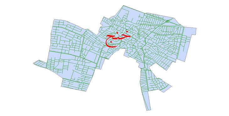 دانلود نقشه شیپ فایل شبکه معابر شهر خنج سال 1399